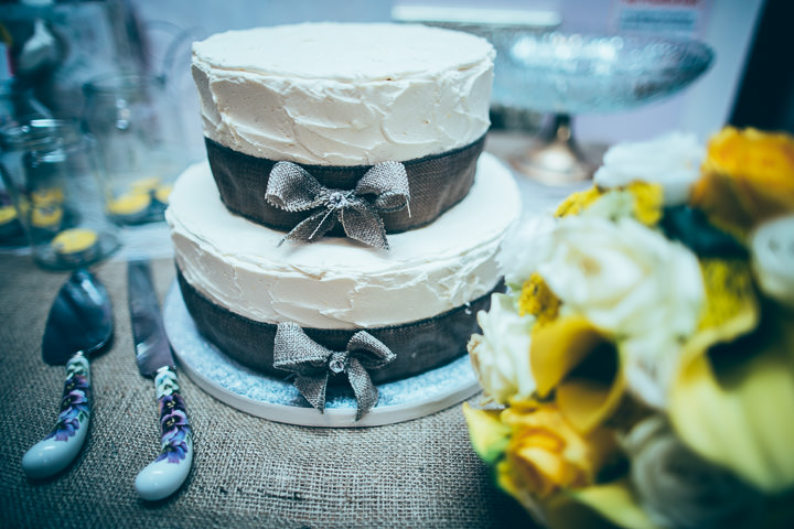 Wedding cake in Wolfen Mill Lancashire By Fairclough Photography