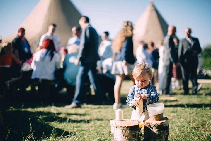 Festival Wedding with kids at Stanley Villa Farm in Preston By Mike Plunkett Photography