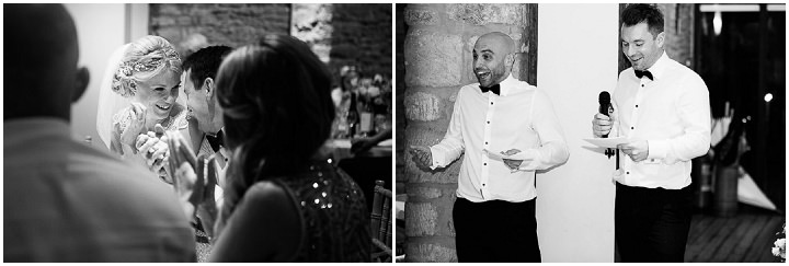 New Years Eve Wedding at The Great Tythe Barn speehes By Kevin Belson Photography