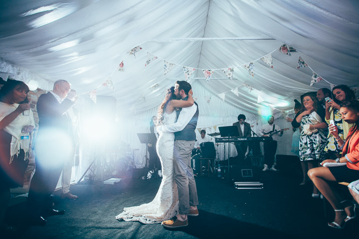 Wedding first dance in Wolfen Mill Lancashire By Fairclough Photography