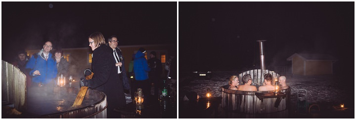 Winter Forest Wedding hot tub in Sweden By Loke Roos Photography