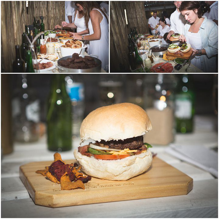 Beach Wedding burgers in Mozambique By The Shank Tank