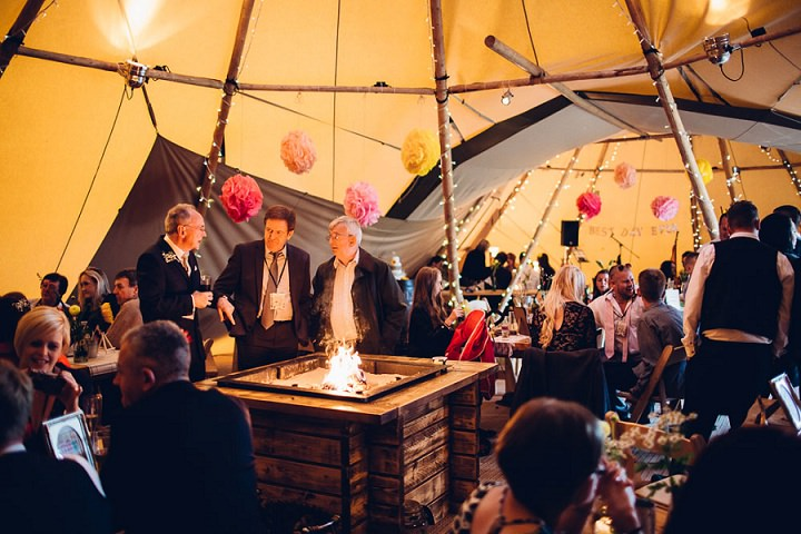 Festival Tipi Wedding at Stanley Villa Farm in Preston By Mike Plunkett Photography
