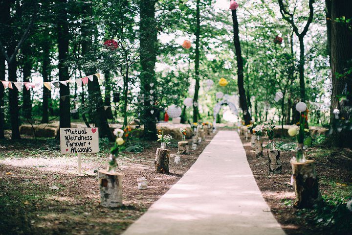 Festival woodland Wedding at Stanley Villa Farm in Preston By Mike Plunkett Photography