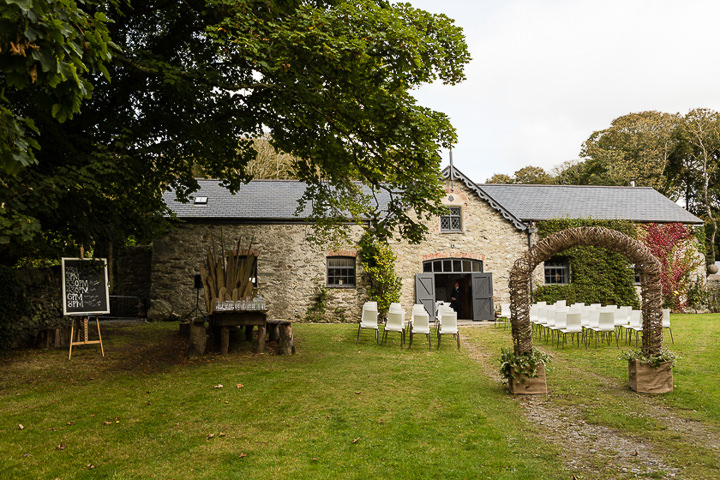 Outdoors In Anglesey Wedding outdoor ceremony By Gill Jones Photography