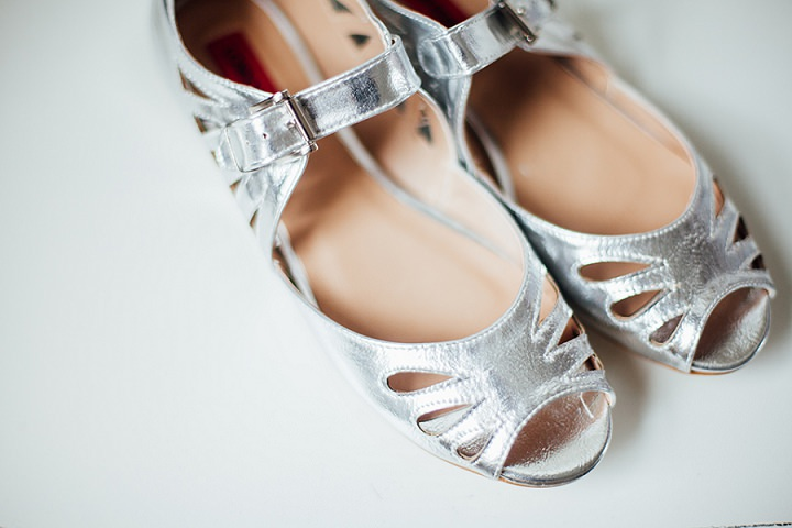Back Garden Welsh Wedding shoes By Kelly J Photography