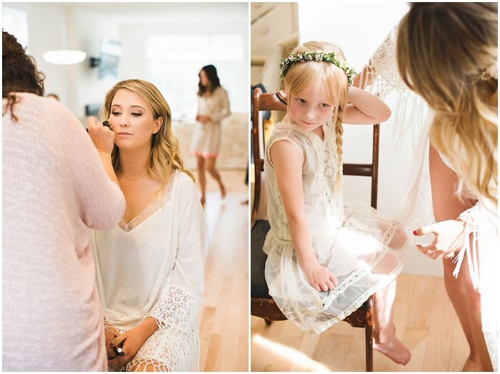 Canadian Camp make up application Wedding By Kristyn Harder Photography