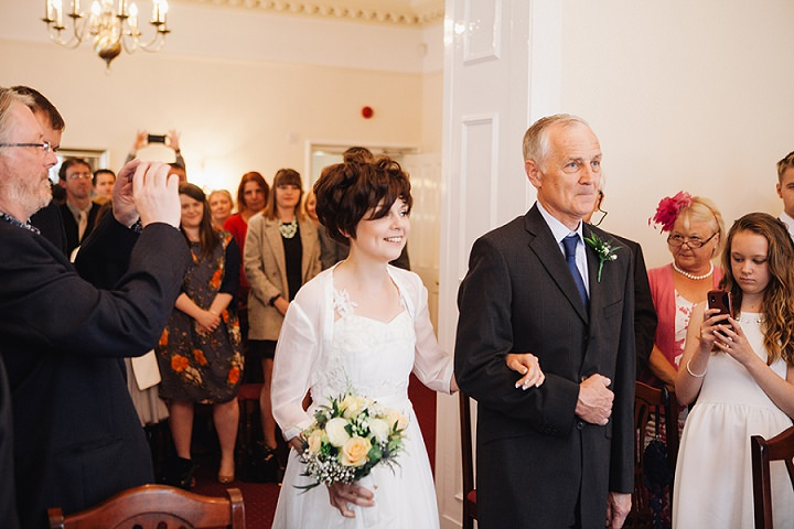 Back Garden Welsh Weddingbrides arrival By Kelly J Photography