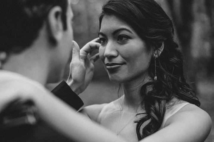 Ruth and Nick's Gorgeous Georgia Wedding with First Look beautiful bride By Parenthesis Photography