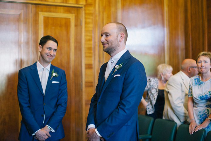 Wedding photography groom waiting by Brighton Photographer Emma Lucy