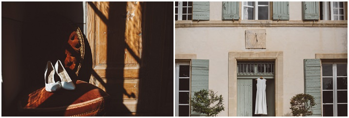 South of France Wedding dress and shoes By Time Of Joy Photography