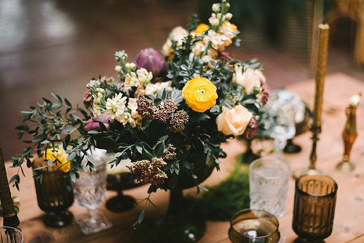 Industrial Boho flowers Wedding Inspiration