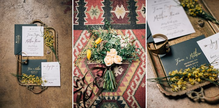 Industrial Boho bouquet Wedding Inspiration