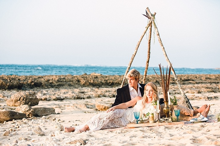 Beautiful Bohemian Beach Wedding Inspiration