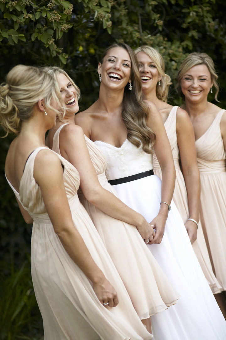 Elegant and Natural Outdoor Melbourne Wedding bridesmaids By Blumenthal Photography
