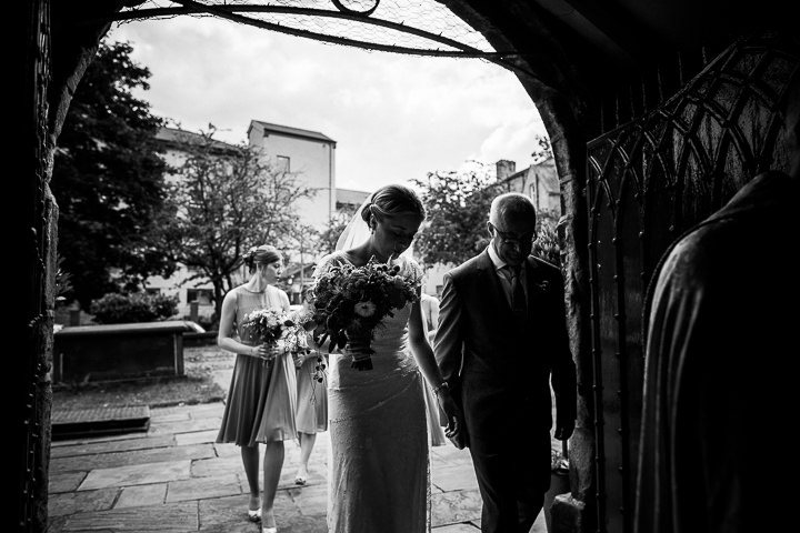 Modern Wedding brides arrival at The Hepworth By Matt Parry Photography