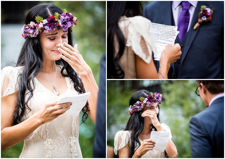 Beautiful Mountain emotional vows Elopement By Kim Payant Photography