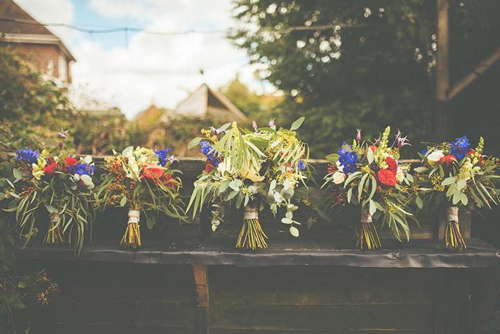 Retro Village bouquet Fete Wedding By Tom Halliday