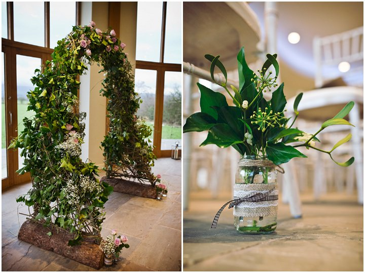 Rustic Winter Wedding Flower Arch By Mark Tattersall