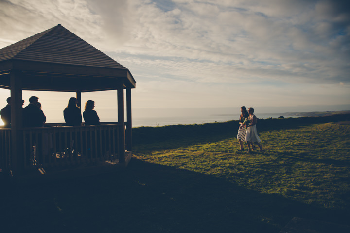 Cornish Elopement brides arrival By Amy Sampson Photography