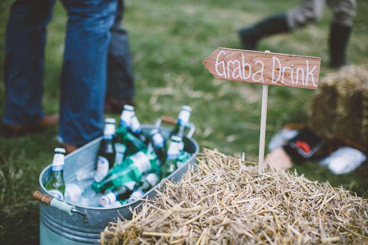 Welsh Farm Wedding drinks By Mike Plunkett Photography