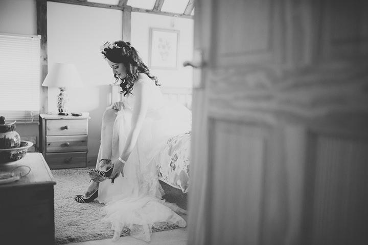 Retro Village Fete Wedding bride prep By Tom Halliday