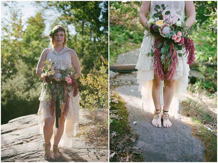 Canadian Camp bare foot bride Wedding in two Parts By ME Creative