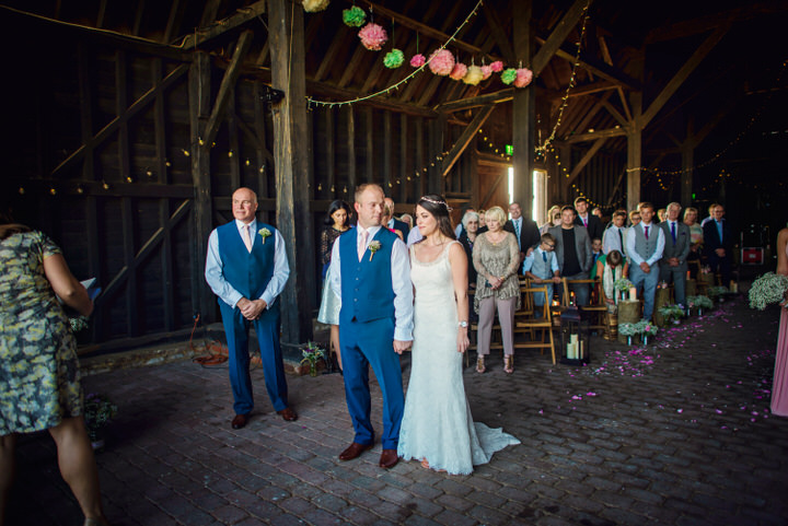 Homespun Barn Wedding at Elmley Nature Reserve ceremony in Kent By Photography By Vicki