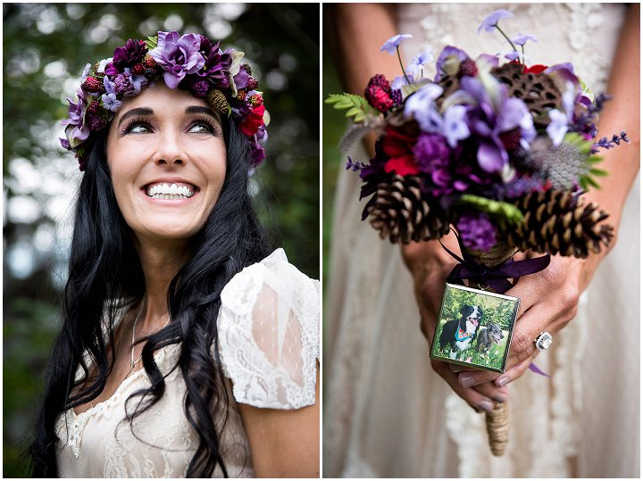 Beautiful Mountain Elopement happy bride By Kim Payant Photography