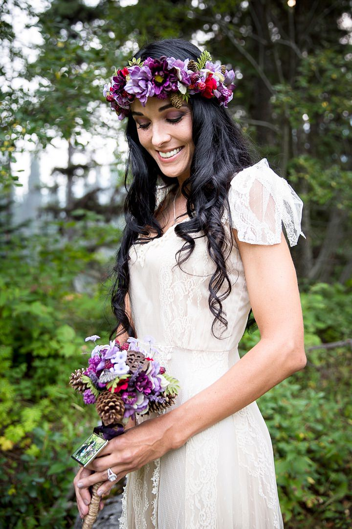 Beautiful Mountain Elopement beautiful bride By Kim Payant Photography