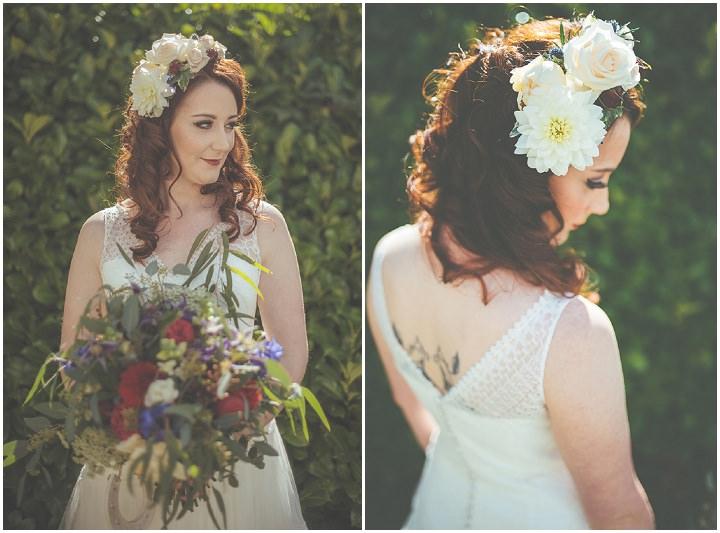 Retro Village Fete flowers in hir Wedding By Tom Halliday
