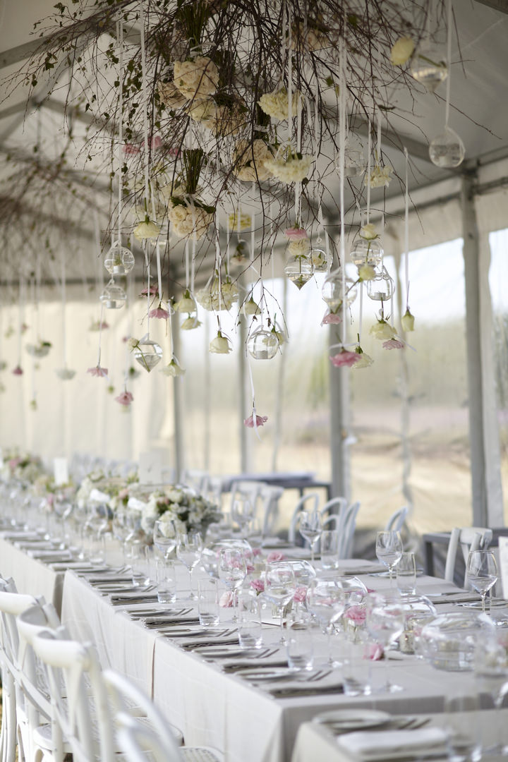 Elegant and Natural Outdoor Melbourne Wedding hanging decorations By Blumenthal PhotographyPhotography