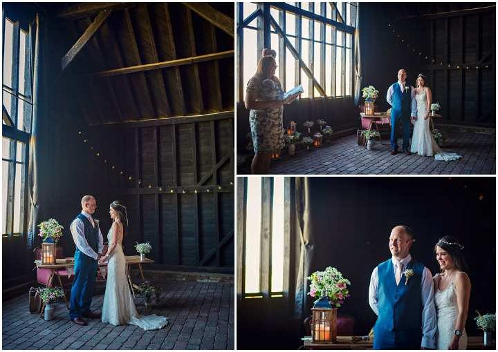 Homespun Barn Wedding readings at Elmley Nature Reserve in Kent By Photography By Vicki