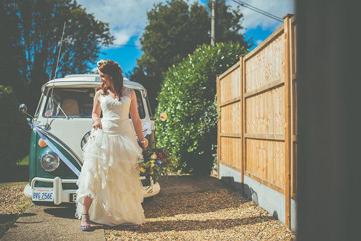 Retro Village Fete Wedding bride By Tom Halliday