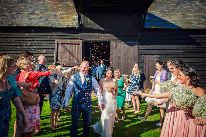 Homespun Barn Wedding confetti at Elmley Nature Reserve in Kent By Photography By Vicki