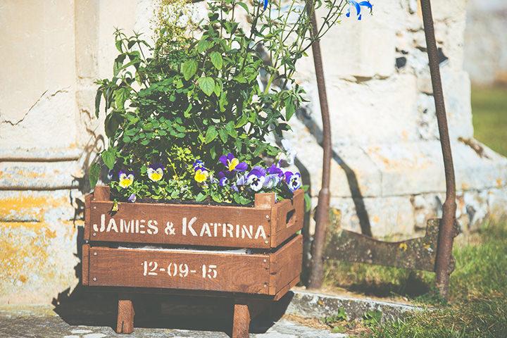 Retro Village Fete Wedding apple crate By Tom Halliday