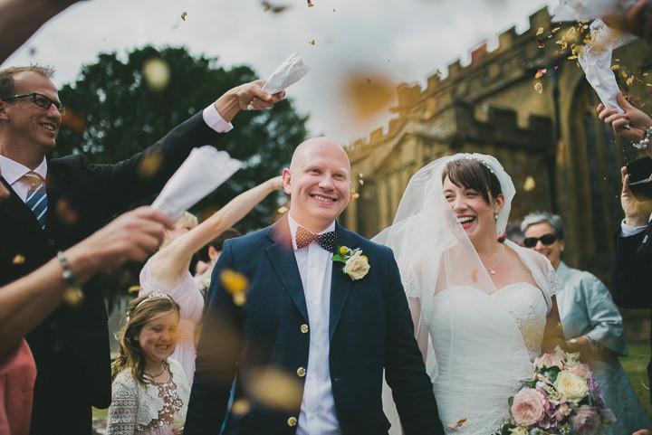 Somerset Wedding confetti By John Barwood Photography