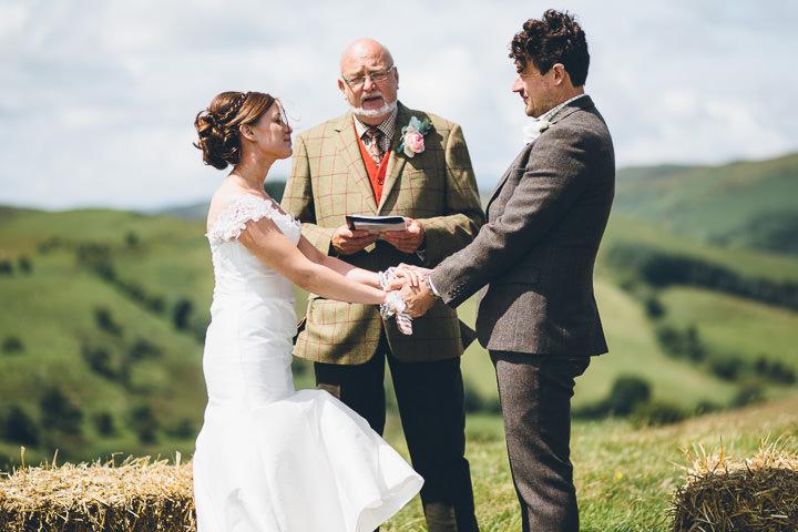 Welsh Farm Wedding cermony By Mike Plunkett Photography