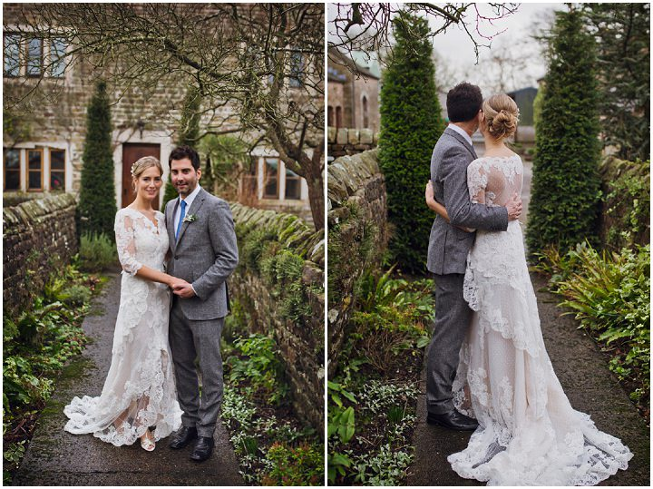 Rustic Winter Wedding bride and groom By Mark Tattersall