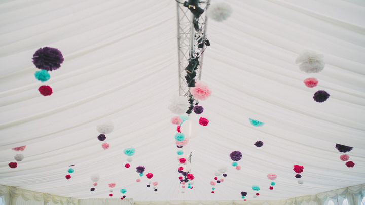 Somerset Wedding pom poms  By John Barwood Photography