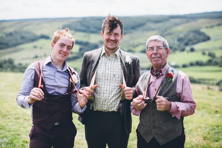 Welsh Farm Wedding groomsmen By Mike Plunkett Photography