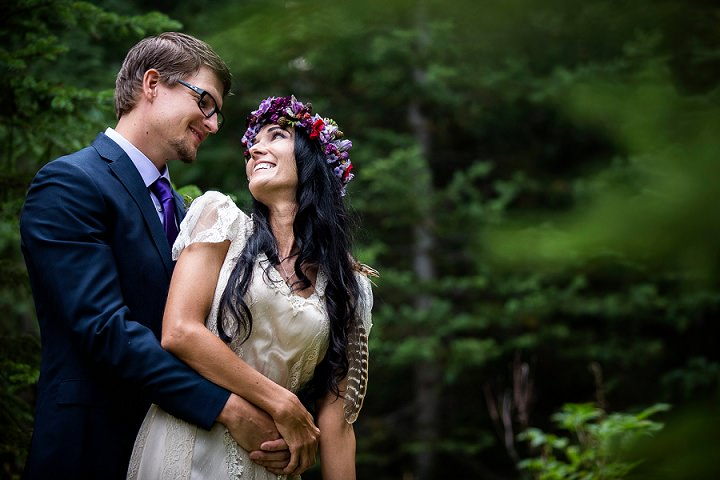 Beautiful Mountain Elopement happy bride and groom By Kim Payant Photography