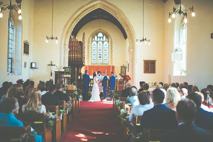 Retro Village Fete Wedding By Tom Halliday arried in church