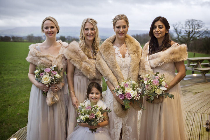 Rustic Winter bride and maids Wedding By Mark Tattersall