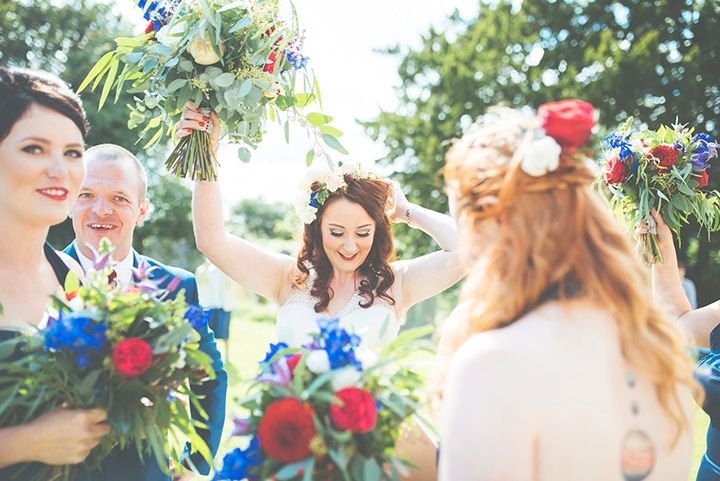 Retro Village Fete Wedding just married By Tom Halliday