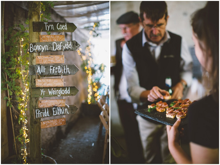Welsh Farm Wedding signs By Mike Plunkett Photography