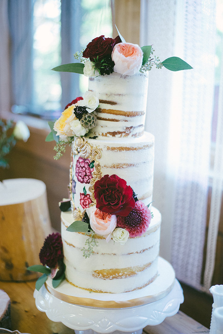 Canadian Camp Wedding in two Parts By ME Creative naked cake