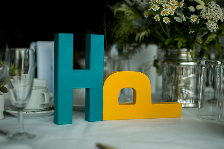 Modern Wedding at The Hepworth letters By Matt Parry Photography