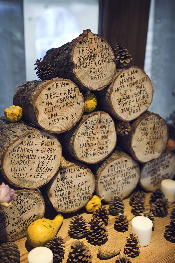 Rustic Winter Wedding table plan By Mark Tattersall