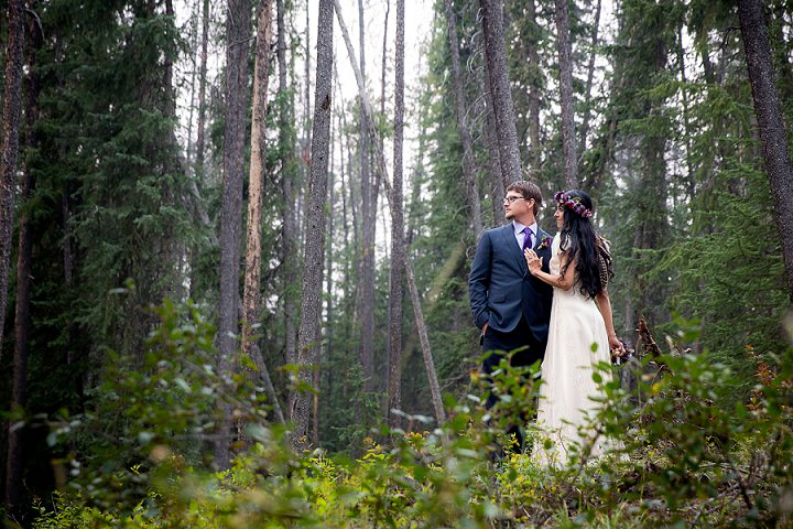 Beautiful Mountain Elopement bride and groom By Kim Payant Photography